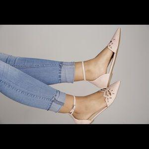 Shoes - Blush ankle strap flats